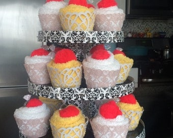Washcloth Cupcake Tower