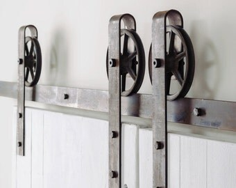 Items Similar To Barn Door Hardware Kit Double Door On Etsy