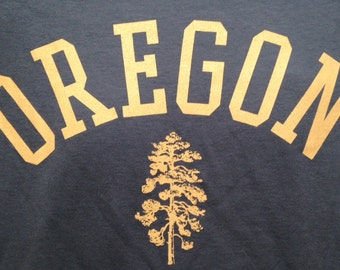 Oregon Screen printed shirt, soft style cotton,