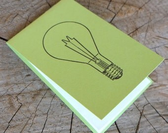 Letterpress Booklet, Light Bulb - Green