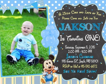 Baby Mickey Mouse Invitation Birthday - Baby Mickey Mouse Party