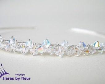 Dainty Swarovski crystal tiara
