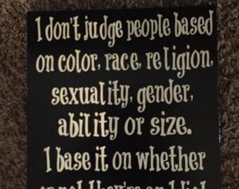 Large judgement sign