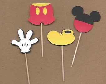 24 Mickey Mouse toothpicks. Great for parties, baby showers and other.