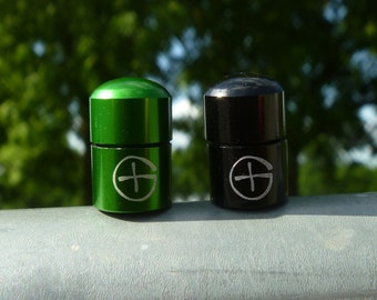 2 Tiny Bison Tube Geocaching Containers