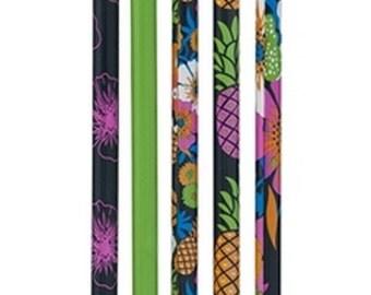 Set of 5 Tropical pencils