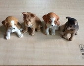 Homeco Dogs Figurines 1980's Set of 4