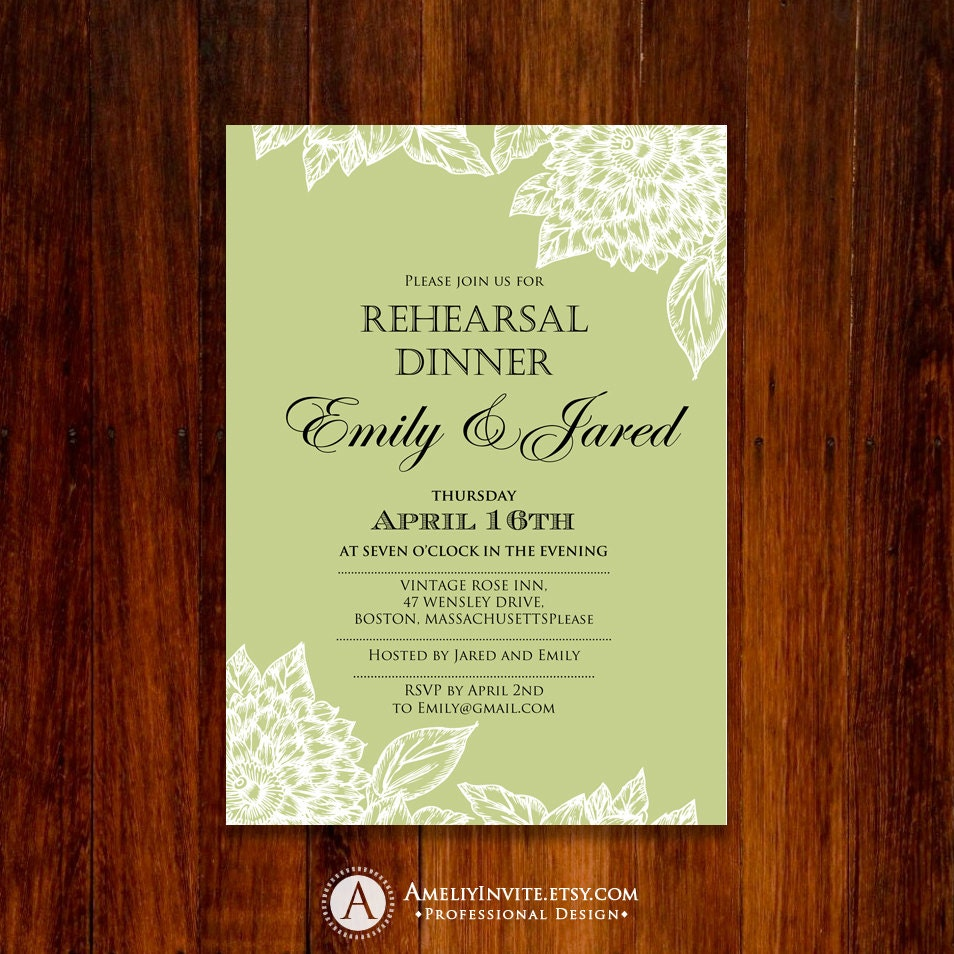 Peaceful image for printable rehearsal dinner invitations
