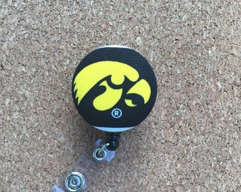 Iowa Hawkeyes Button Badge Reel