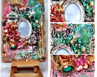limited edition mixed media photo frame with stand