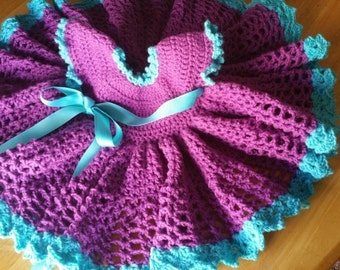 Little Sweetie Pleated Crochet Dress ----Made to Order