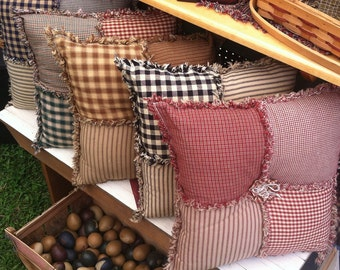 Patchwork throw pillow