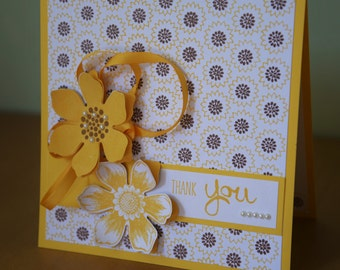 Stampin Up Thank you card with matching gift tag