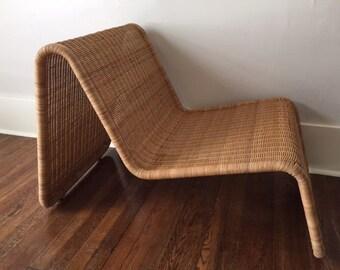 Pair of Tito Agnoli Woven Wicker P3 Chairs