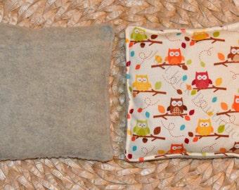 Boo Boo Buddy Flax Seed Bag with hand pocket - Owl