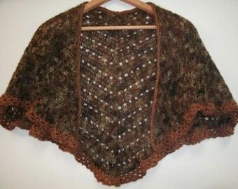 Mohair Hand Crochet Capelet Shawl Colorfield Farm Fiber
