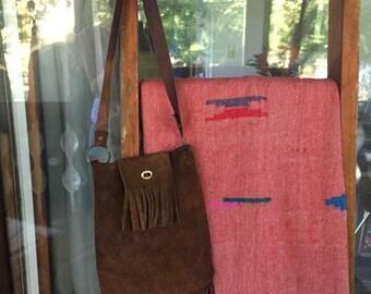 Vintage Southwest Suede/Leather Hide Shoulder Purse