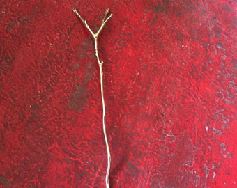 Tiny Twig Lace Stick for Knitwear, Crochetwear, handmade, accessory, closure, metal, Fair Trade