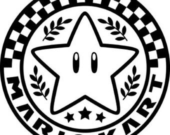 Mario Kart Vinyl Decal!