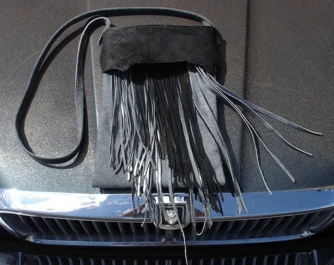 Black and Silver Fringe Bag