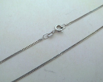 Solid 18ct White Gold Curb Chain