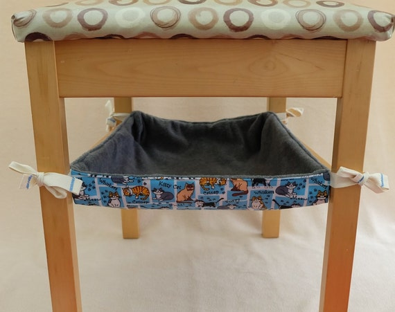 Cat Hammock Bed To Hang Under A Chair Or Coffee Table