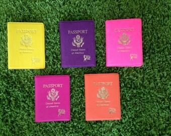 Passport wallet, Passport cover, passport case, passport holder. Style & Travel Girl Passport Cover and I.D./ Credit Card Holder.