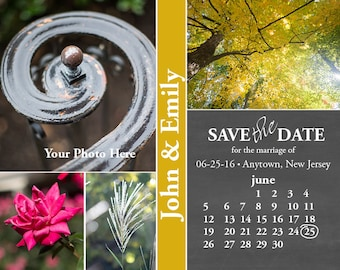 Multi Frame Calendar Save the Date