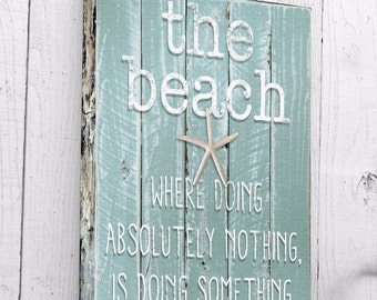 Beach Wall Art, Ocean Phrases Wall Art, Beach Decor Canvas Art, Nautical Decor, Driftwood Beach Print, Beach Art, Coastal Wall Art