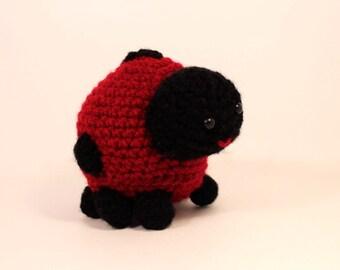 Amigurumi stuffed ladybug