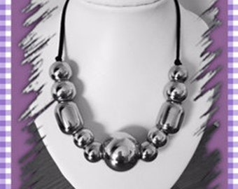Silver 'Funky' necklace