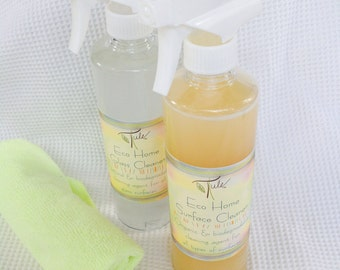 Natural Cleaning Solutions- Surface & Glass Cleaners