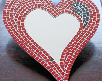 Mosaic Heart Wall Mirror