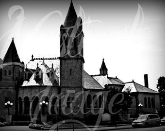 Black & White castle digital download