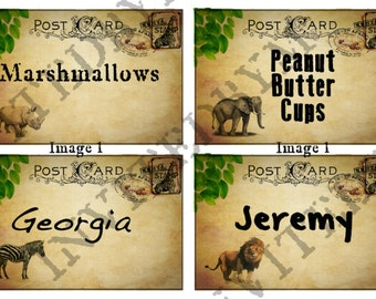 Safari Jungle Party Labels/Place Cards