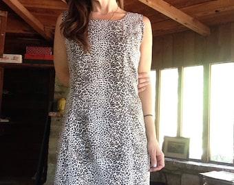 90s Leopard Cheetah Shift Dress