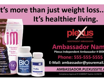 Plexus Business Card - More than weight loss - Compliance Approved