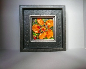 Framed Original Floral painting on canvas: No. 8