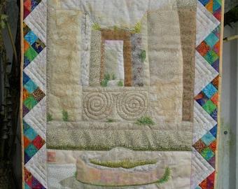 """Small art quilt  """"Malta"""""""