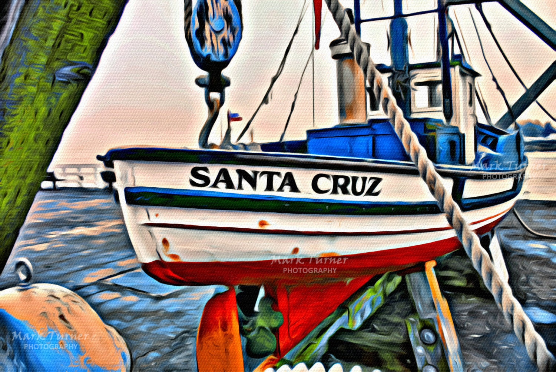 Santa cruz fishing boat harbor ocean california for Santa cruz fishing
