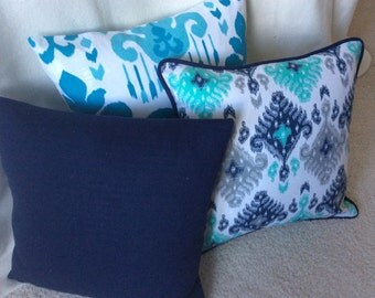 Shades of Blue Pillow Covers