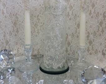 Wedding unity floating candle set