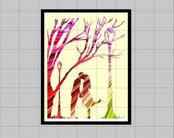 "Lovers Rainbow .wall art printable... 8 ""x 10""... scrapbboking, clipart, table..."