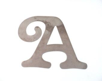 Letter A Metal Wall Decor