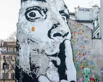 Shuuuuu - Large Fine Art Photography, Urban Photography, Paris Photography, Wall Decor, Art Wall, France, Street Art, Paris, Graffiti,