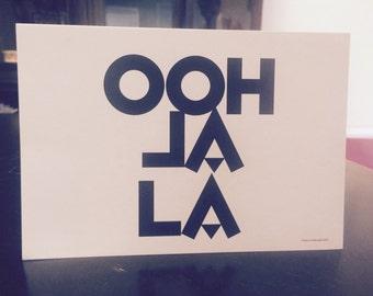 Ohh la la! French postcard design