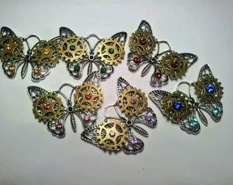 Steampunk butterfly choker/necklace