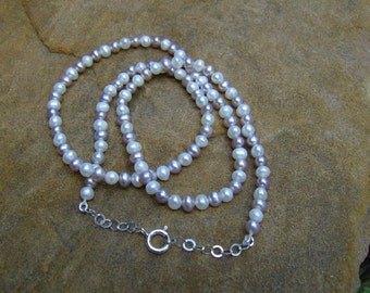 Petite Pearl and Sterling Silver Necklace