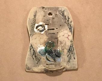 Portico iPODDERY Vania Setti Settiarts Ceramics Art Stoneware Plaque