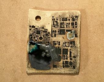Alley 4 iPODDERY Vania Setti Settiarts Ceramics Art Stoneware Plaque